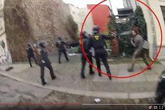 Polizisten gehen auf Journalisten los in Leipzig.