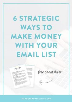 Soo you have an email list, but you have no idea how to use it to make money online. Sound about right? This in-depth post describes 6 killer ways to use your email list as a way to increase your income. It's perfect for business owners, entrepreneurs, and bloggers who are ready to take things seriously. Click through to read the full post! // email marketing