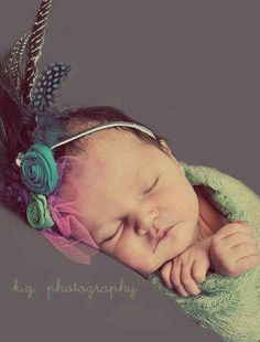 peacock head piece headband baby infant toddler by silentsalvation, $16.00