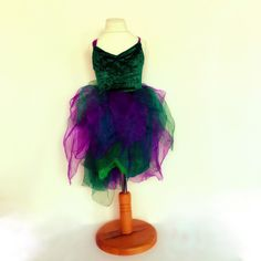 Forest Faery dress costume with wings petal gown by Burrellios