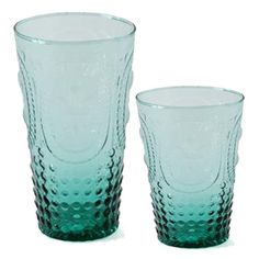 f40653047dd VINTAGE TURQUOISE Drinking Glasses - perfect for a summer soiree