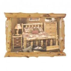 Fireside Lodge Furniture 1290 Cedar Log Mirror