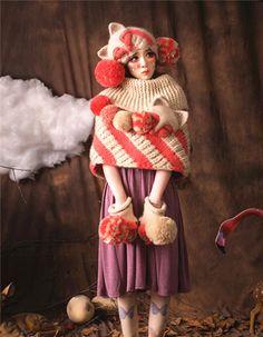 Crocheted shawl - Womens clothing - girl cloak- -Crochet poncho - Teens poncho ,sweet