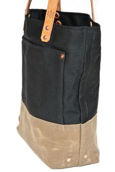 I think I could make one these Bexar Waxed Canvas Totes
