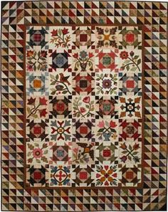 """Appliqué Block of the Month - Heritage Sampler 49"""" x 63"""" Temecula Quilt Company"""