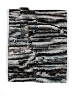 """Matthew Harris """"Aoyama Window Fragments"""" dyed, cut and hand stitched cloth, each approximately 33 x 40cm"""
