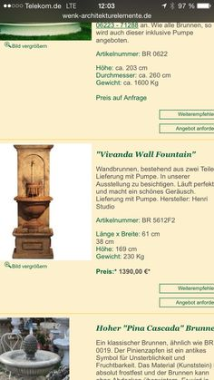 Wall Fountains, Pictures