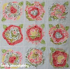 My next quilting project.  The rose edges fray after you wash it. Gives it a beautiful look.