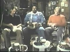Wonderful #needlepoint Miller #Lite ad from the 1976 #superbowl with Rosey #Grier and friends!