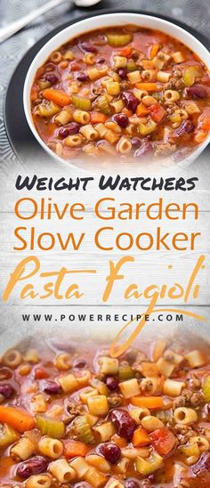 Olive garden slow cooker pasta fagioli recipe all about your power recipes slow cooker pasta e fagioli Pasta Fagioli Recipe Slow Cooker, Pasta E Fagioli Soup, Slow Cooker Pasta, Slow Cooker Recipes, Cooking Recipes, Pasta Soup, Crockpot Meals, Olive Garden Pasta Fagioli, Olive Garden Soups