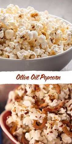 Popcorn with pretzels, olive oil and caramel...oh my.
