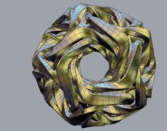 Dodecahedron Linked 3D Model