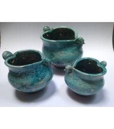 Raku Love Bird Bowls, O'Riain Pottery - The Cat and the Moon Irish Pottery, Irish Celtic, Glass Ceramic, Handmade Pottery, Love Birds, Craftsman, Stoneware, Decorative Bowls, Artisan