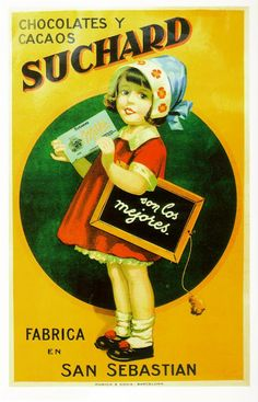I loved Suchard Chocolates.  The cursive on the chalk board is how we were taught to write.  Kids had grid writing tablets to guide the lettering.