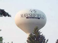 Marshfield is located in both Wood County and Marathon County, Wisconsin. Wood County, Our Town, Local Attractions, Water Tower, Places Of Interest, Live In The Now, Wisconsin, City, Spaces