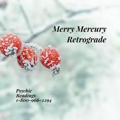 Mercury went Retrograde on December 19. It will go direct January 8, 2017. We suggest taking time with communication to be as clear as possible. We also suggest being mindful of electronics and anything mechanical. Have patience when dealing with friends and family over the holidays. It could be a rough couple of weeks.  If you need help, we have readers who would love to talk.  www.thepsychicline.com 1-800-966-2294 ❤🔮🌟 entertainment 18+
