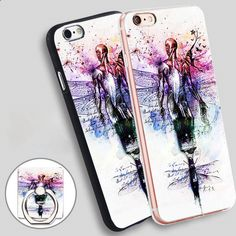 we heart it dream Phone Ring Holder Soft TPU Silicone Case Cover for iPhone 4 4S 5C 5 SE 5S 6 6S 7 Plus