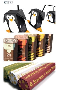 Awesome cartons... kids would LOVE these penguin juice boxes.