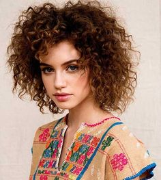 Tight Curls Hairstyle for Girls
