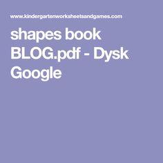 shapes book BLOG.pdf - Dysk Google