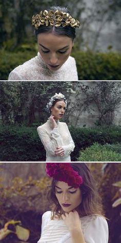 Tocados de Le Touquet {Fotos, Días de Vino y Rosas} #tocados #novias