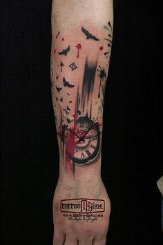 trashpolka tattoos watch tattoo