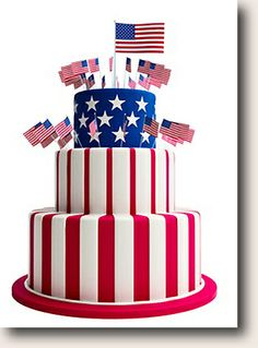 Image result for Patriotic birthday cake images