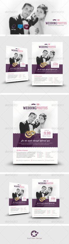 Wedding Photography Flyer Flyers, Photography and Printed - wedding flyer