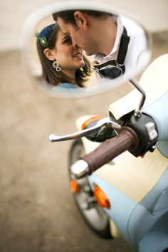 creative use of moped mirror