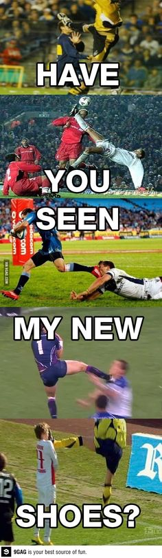 I got new cleats and they're mercurials << previous pinner and EXACT SAME HERE!!!! This is totally me when I get new cleats | soccer • haha • funny • joke • lol • humor • sports • so true