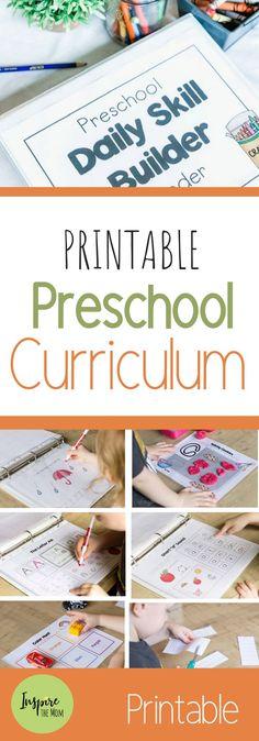 Preschool Daily Skill-Builder Binder - Inspire the Mom