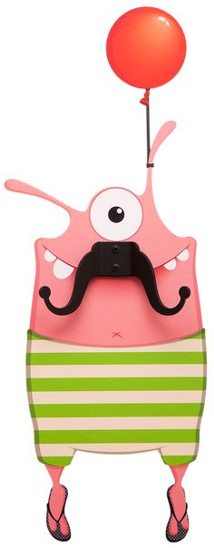Wall Decal & Hangers | Noiky-Design Studio| Moustache Monsters