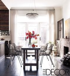 Keri Russell's House Dining Room