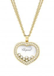 Chopard Pendant Happy Curves Pendant 18k yellow gold and diamonds