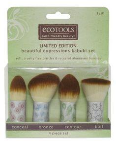 awesome ecoTOOLS Make-Up Kabuki Brush Set