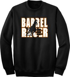 Barrel Racer Horse and Rider Black Sweatshirt - Charlie Horse Apparel