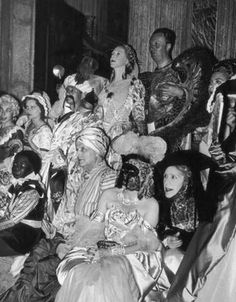 * Charles de Beistegui's famous 1951 Ball in Venice. Group of guests