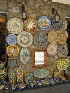 Gorgeous Italian ceramics... wish I had purchased more of them!