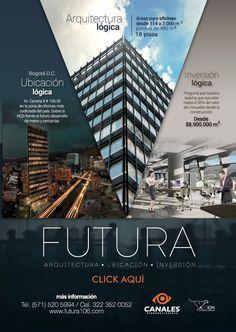 #NOVOCLICK esta con #CanalesDesarrolladores #LasMejoresOficinasDeBogota Graphic Design Flyer, Flyer And Poster Design, Poster Design Layout, Corporate Design, Brochure Design, Web Design, Real Estate Advertising, Advertising Design, Modele Word