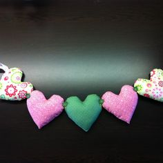 Gorgeous Padded Heart Bunting by DaisyMadeIt on Etsy
