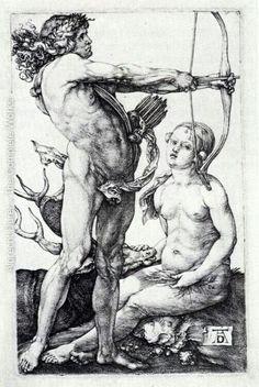 Albrecht Dürer: Apollo and Diana.