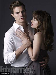 Jamie y Dakota como Christian y Anastasia