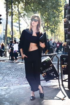 Paris Fashion Week Spring Summer 15 Street_Style ECE Sukan Cropped