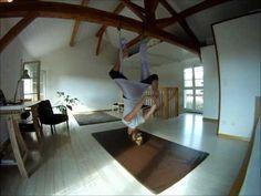 Nicky's aerial yoga routine. - https://www.youtube.com/watch?v=zVwSBYh8xwk