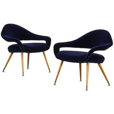 Pair of Rare Italian Lounge Chairs by Gastone Rinaldi Armchair Model DU 55 P | From a unique collection of antique and modern lounge chairs at https://www.1stdibs.com/furniture/seating/lounge-chairs/