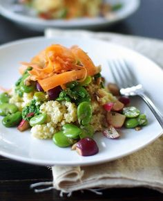 Marinated Fava Beans & Radishes with Millet & Cilantro Pesto from Good Things Grow