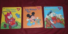 "authors unknown - ""Disney Babies"": Baby Daisy's Walk, Baby Mickey's Toys, and Baby Donald at the Playground (Golden Books)"