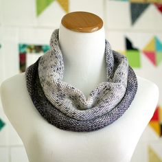 Speckled Gradient Cowl by knottygnome, via Flickr