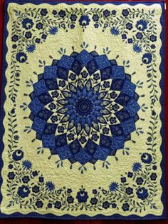 Hungarian folk art quilt