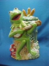 Vintage, Kermit the Frog Cookie Jar (with original box), in booth 93 at the Brass Armadillo. Priced at only 59.00 (125.00 on Ebay-if you can find one) and you can get 25 % off of this and everything else in booth 93, at the Kansas City Brass Armadillo. They ship things, too. (816) 847-5260.  :)  Ribbit!